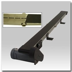 Vacuum Conveyor Belts Hold Light Parts through Elevation Change, Vertical and Upside Down Applications