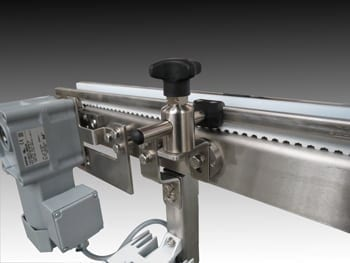 FDA-Approved Pharmaceutical Timing Belt Conveyor System.