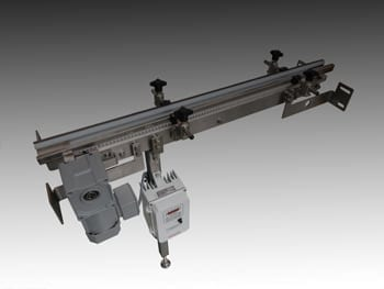 Pharmaceutical Timing Belt Conveyor System for Medical Packaging.
