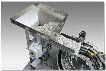 Hybrid Vibratory Feeder - Conveyor Belt System for Gentle Parts Handling