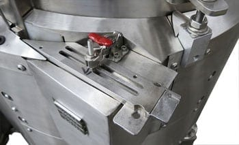 Centrifugal feeder system for medical manufacturing