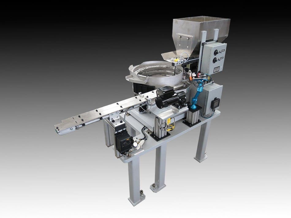 Vibratory Bowl Feeder with Vision Inspection System and Belt