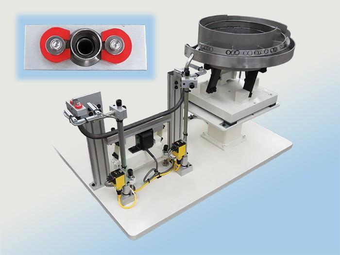 Vibratory mandrel bowl feeder
