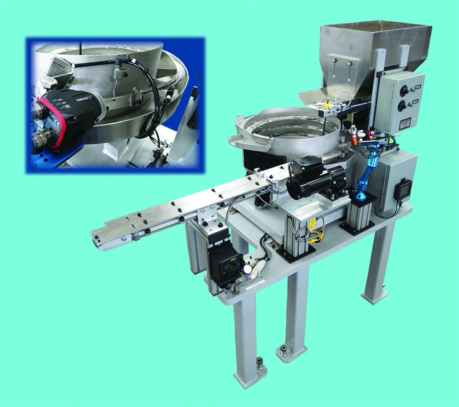 Vision system on vibratory bowl feeder