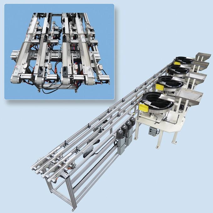 4-bowl Vibratory Feeder System