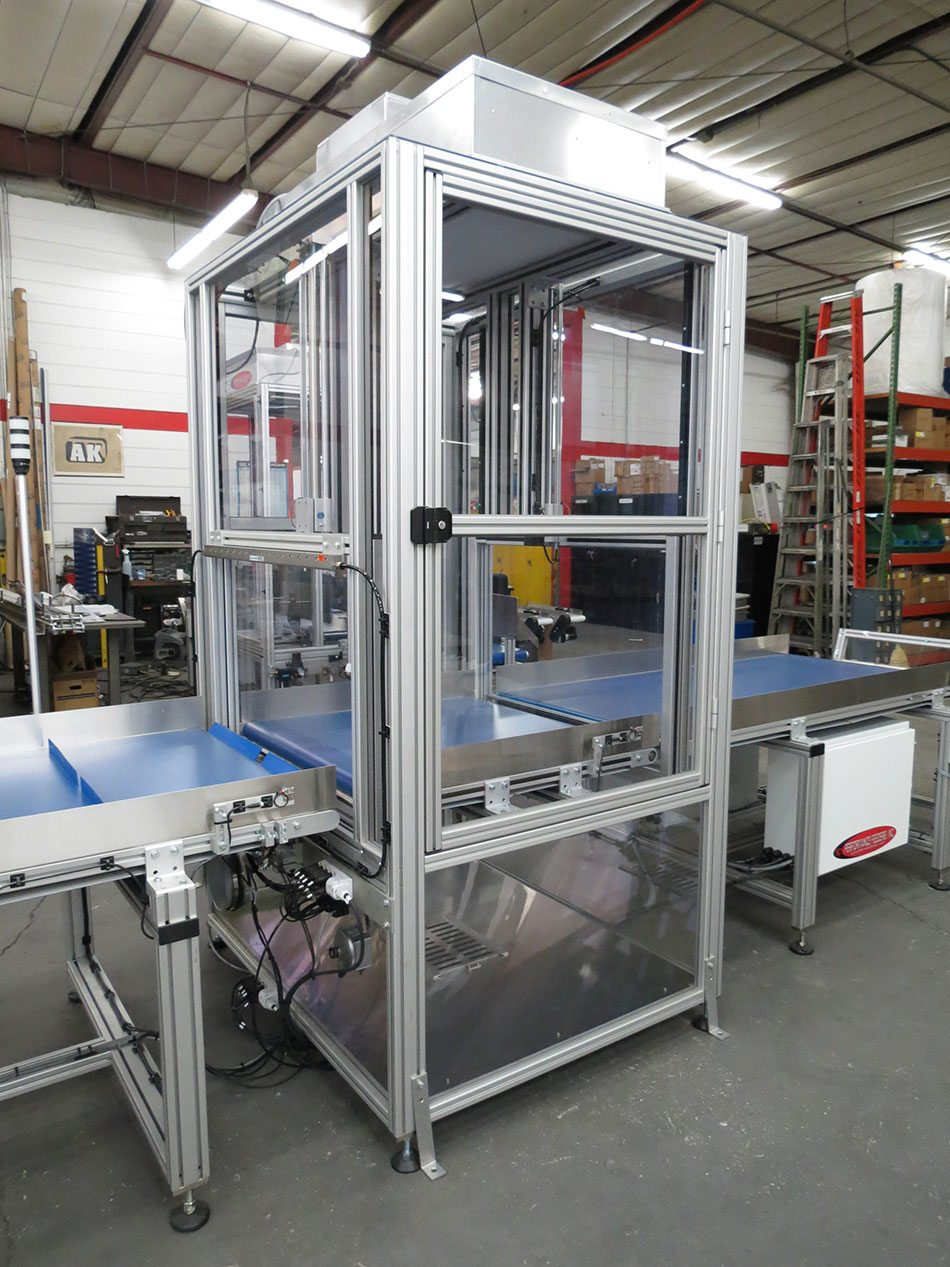Medical Packaging Conveyor System with Airlock Cleanroom