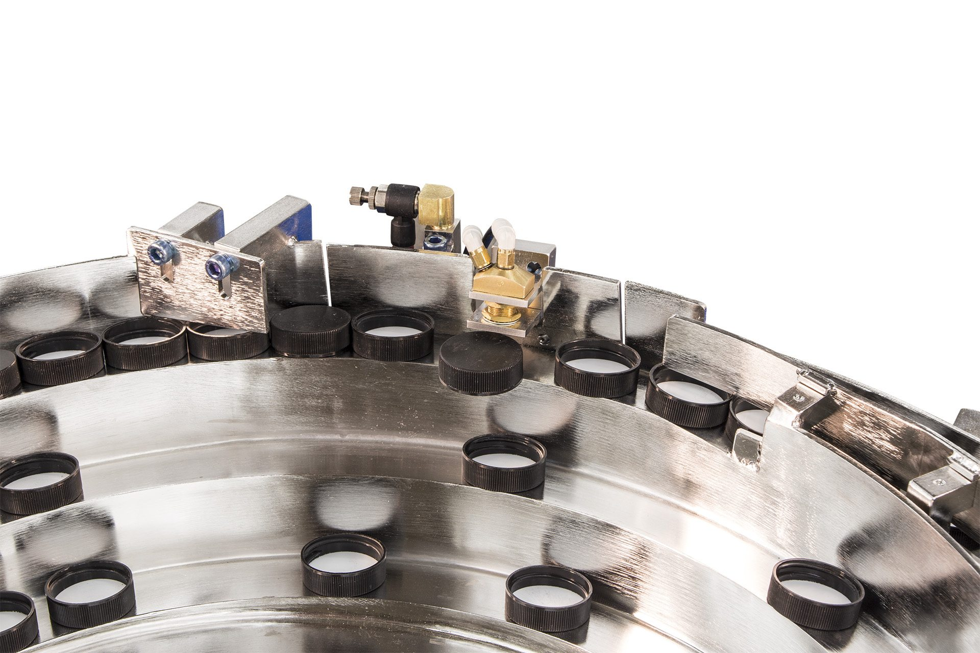 Vibratory Cap Feeder - Caps Removed from System